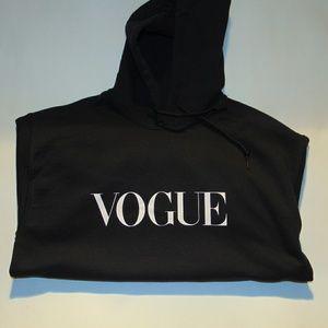 Black vogue hoodie